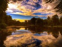 Reflexion im Wasser Stockbild