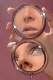 Reflexion In A Mirror Stock Photo