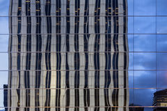 Reflexion of modern building. In windows Stock Image