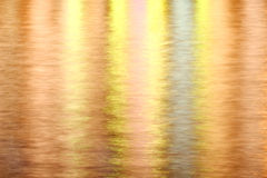 Reflexion of the night city lights. Background with the  reflexion of the night city lights under the water Stock Photos