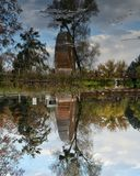 Reflexion. Over the lake royalty free stock photography