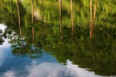 Reflexion på laken Arkivfoton