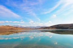 Reflexion på sjön Arkivbilder