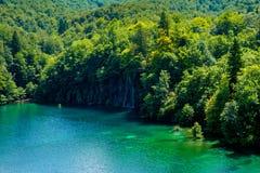 Reflexion in the Plitvice Lakes in Croatia Stock Image