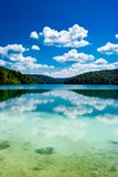 Reflexion in the Plitvice Lakes in Croatia Royalty Free Stock Photography