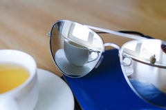 Reflexion in sunglasses. Royalty Free Stock Images