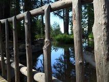 Reflexion till och med bron Royaltyfri Fotografi