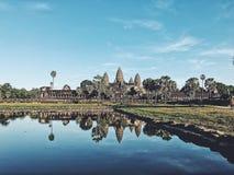 Reflexion von Angkor Wat stockfotografie