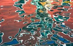 Reflexion von Burano-Insel im Wasser Stockfoto