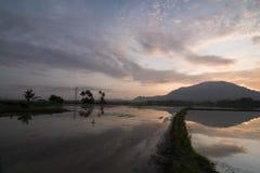 Reflexion von Hügel Cherok Tokkun Lizenzfreies Stockbild