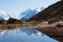 Reflexion von mt-Koch im seichten Wasser von rotem Tarns Lizenzfreie Stockfotografie
