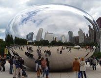Reflexion von Wolken Stockfotos