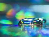 Reflexionen auf Silber Lizenzfreies Stockbild