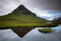Reflexionen bei Glencoe Schottland, Großbritannien lizenzfreies stockbild