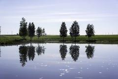 Reflexionen bevattnar in arkivfoton
