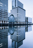 Reflexionen in Canary Wharf, London Stockfoto