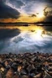 Reflexionen des Sonnenuntergangs Lizenzfreies Stockfoto