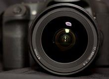 Reflexionen in einem Kameraobjektiv Lizenzfreie Stockfotos