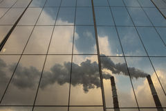 Reflexionen im Glas Lizenzfreies Stockfoto