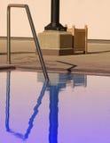 Reflexionen im Pool Stockfotografie