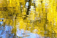 Reflexionen im Wasser, abstrakter Naturhintergrund Stockbild