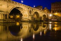 Reflexionen Ponte Sisto Stockfoto