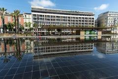 Reflexionen Promenade du Paillon Nice Lizenzfreie Stockbilder