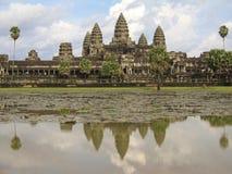 Reflexionen von Angkor Wat Stockfotos