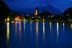 Reflexionen von Interlaken Stockbild