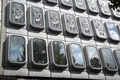 Reflexionen in Windows Stockbilder