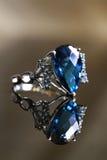 Reflexioner av blå safir Royaltyfri Foto