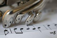 Reflexioner av musik Royaltyfria Foton