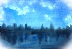 Reflexioner för bakgrundsträdvatten Arkivfoto