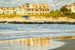 Reflexioner för strandhus Royaltyfri Foto