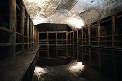 Reflexioner i Catedralen de sal nästan bogota royaltyfria foton