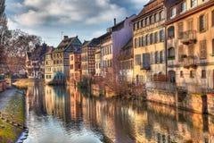 Reflexioner i Strasbourg Royaltyfri Fotografi