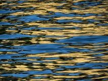 Reflexioner i vatten som är passande för bakgrunden Arkivbilder