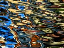 Reflexioner i vatten som är passande för bakgrunden Royaltyfri Fotografi