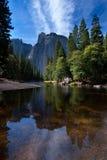 Reflexioner i Yosemite NP Fotografering för Bildbyråer