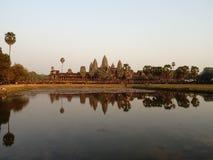 Reflexioner på Ankor Wat Royaltyfria Bilder