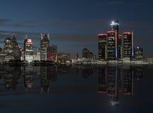 Reflexioner på Detroit Royaltyfri Foto