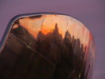 Reflexioner på en horisont Arkivfoton