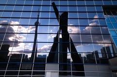 reflexioner toronto royaltyfria bilder