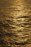 Reflexioner vänder havet guld- Royaltyfria Foton