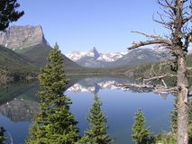 Reflexiones 2 de los picos de los glaciares Foto de archivo libre de regalías