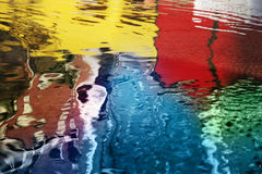 Reflexiones abstractas del agua Fotografía de archivo libre de regalías