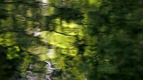 reflexiones amarillas del agua almacen de metraje de vídeo