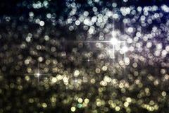 Reflexiones circulares de las luces de la Navidad Imágenes de archivo libres de regalías