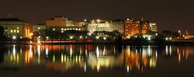 Escena de la noche de la C.C. de Washington Imágenes de archivo libres de regalías