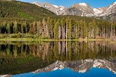Reflexiones de Colorado en Rocky Mountain National Park imagen de archivo